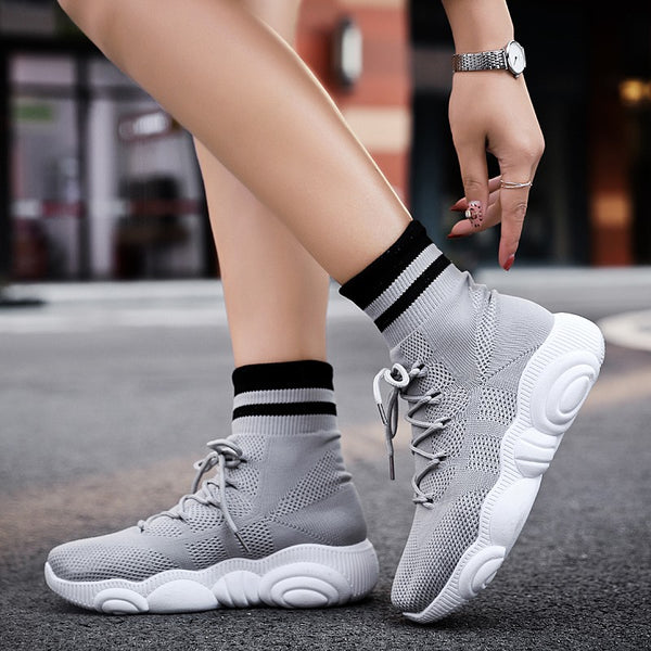 Womens chunky socks shoes (piwh)