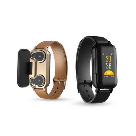 Smart watch earbuds bracelet (gldblk d00)