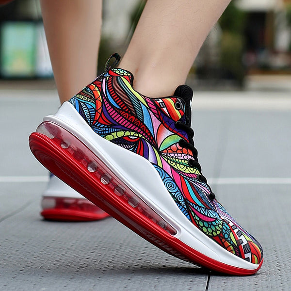 Womens totem fashion running workout sneakers shoes (multi)