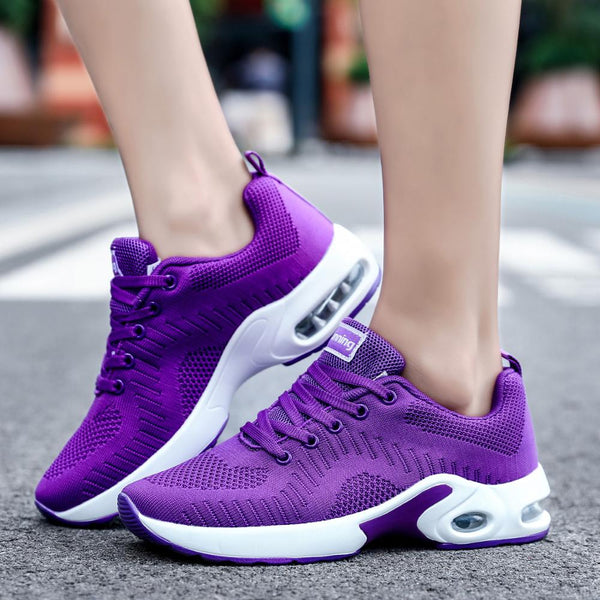 Womens running workout sneakers casual shoes (pu)