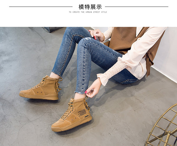 Womens running bonded-leather boots casual shoes (ybr d00)