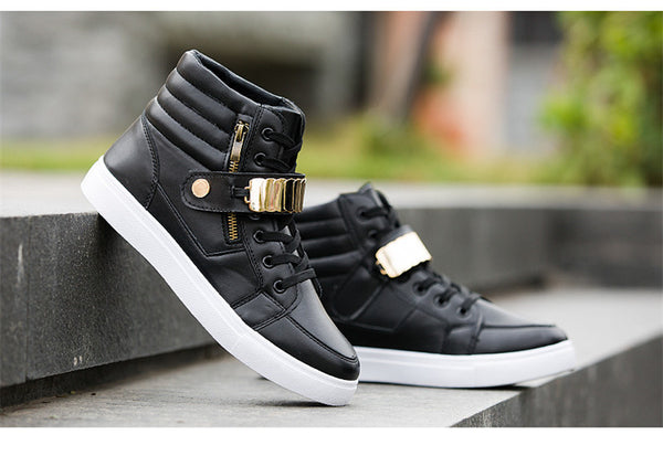 Mens running unisex gold trim workout sneakers casual shoes (blgld)