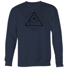 Load image into Gallery viewer, APOC Metatron's Cube Unisex Crewneck Sweatshirt