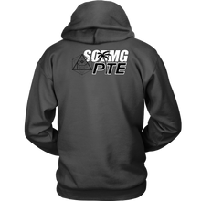 Load image into Gallery viewer, APOC Metatron's  Cube + PTE + SODMG Unisex Hoodie (Front and Back logo)