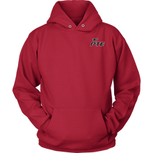Load image into Gallery viewer, PTE Unisex Hoodie (Front and Back PTE logo)