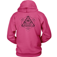 Load image into Gallery viewer, APOC Red with Metatron's Cube (On the Back) Unisex Hoodie