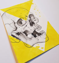 Load image into Gallery viewer, Yellow and Black Skull (5x7)