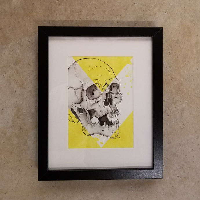 Yellow and Black Skull (5x7)