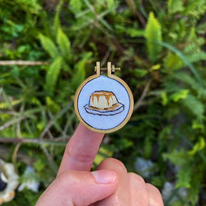 Embroidered Flan Mini