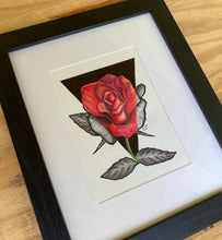 Load image into Gallery viewer, Single Rose (red and black)