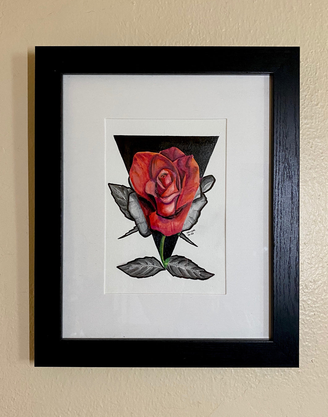 Single Rose (red and black)