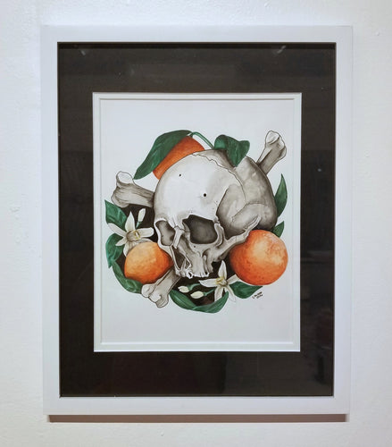 Skull and Orange Blossoms