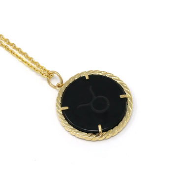 Cult Collection Zodiac Necklace - Onyx - Yellow Gold