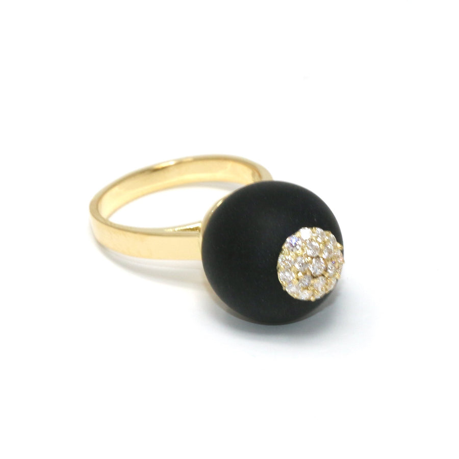 One of a Kind Onyx Sphere Ring