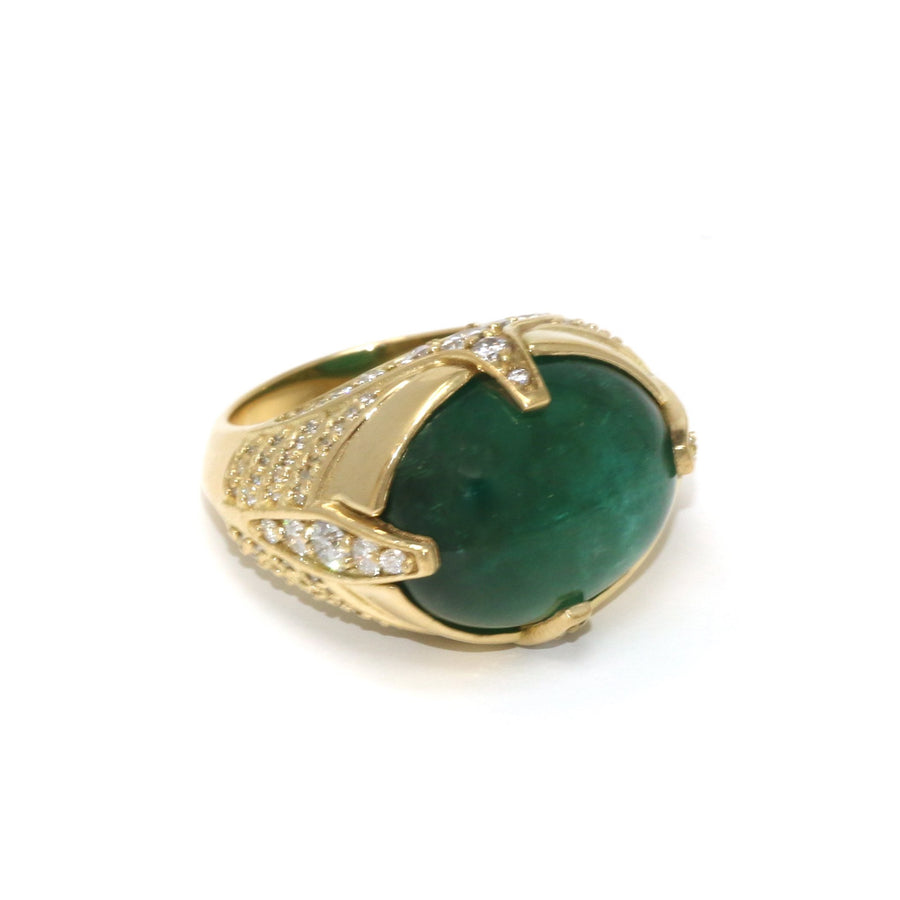 One of a Kind Emerald Cocktail Ring