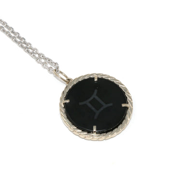 Cult Collection Zodiac Necklace - Onyx - White Gold