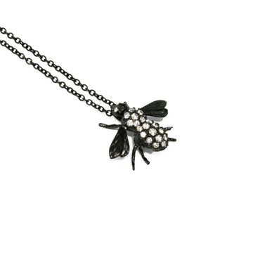 Pests Fly Necklace - Black Gold