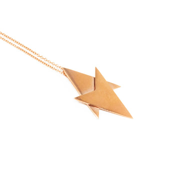 Black Star Double  Arrow Necklace