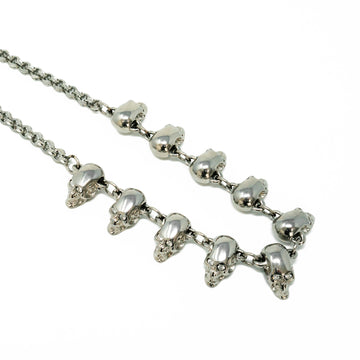 Chrome Diamond Skull Necklace