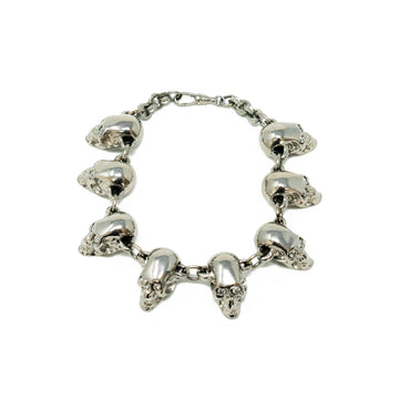 Chrome Diamond Skull Bracelet