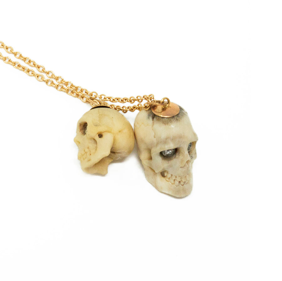 One of a Kind Skull Bone Necklace