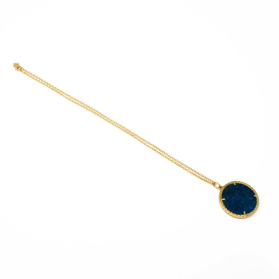 Cult Collection Zodiac Necklace - Lapis - Yellow Gold