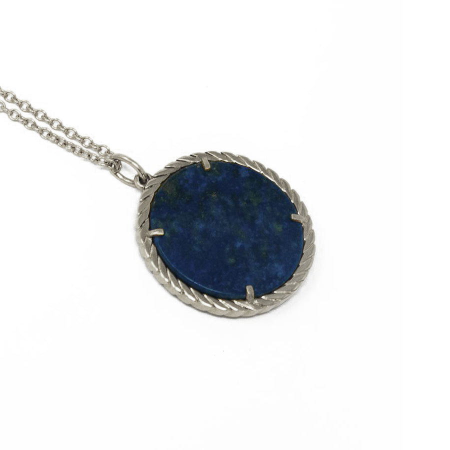 Cult Collection Zodiac Necklace - Lapis - White Gold