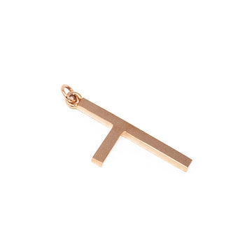 One Sided Cross Necklace - Rose Gold - Small