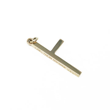 One Sided Cross Necklace - White Gold - Large