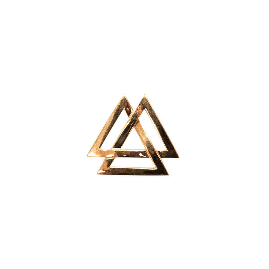 Black Star Triple Triangle Ring