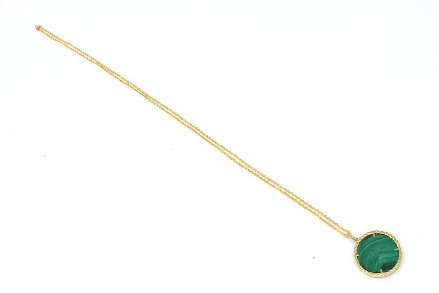 Cult Collection Zodiac Necklace - Malachite - Yellow Gold
