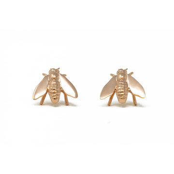 Pests Bee Earrings - Rose Gold