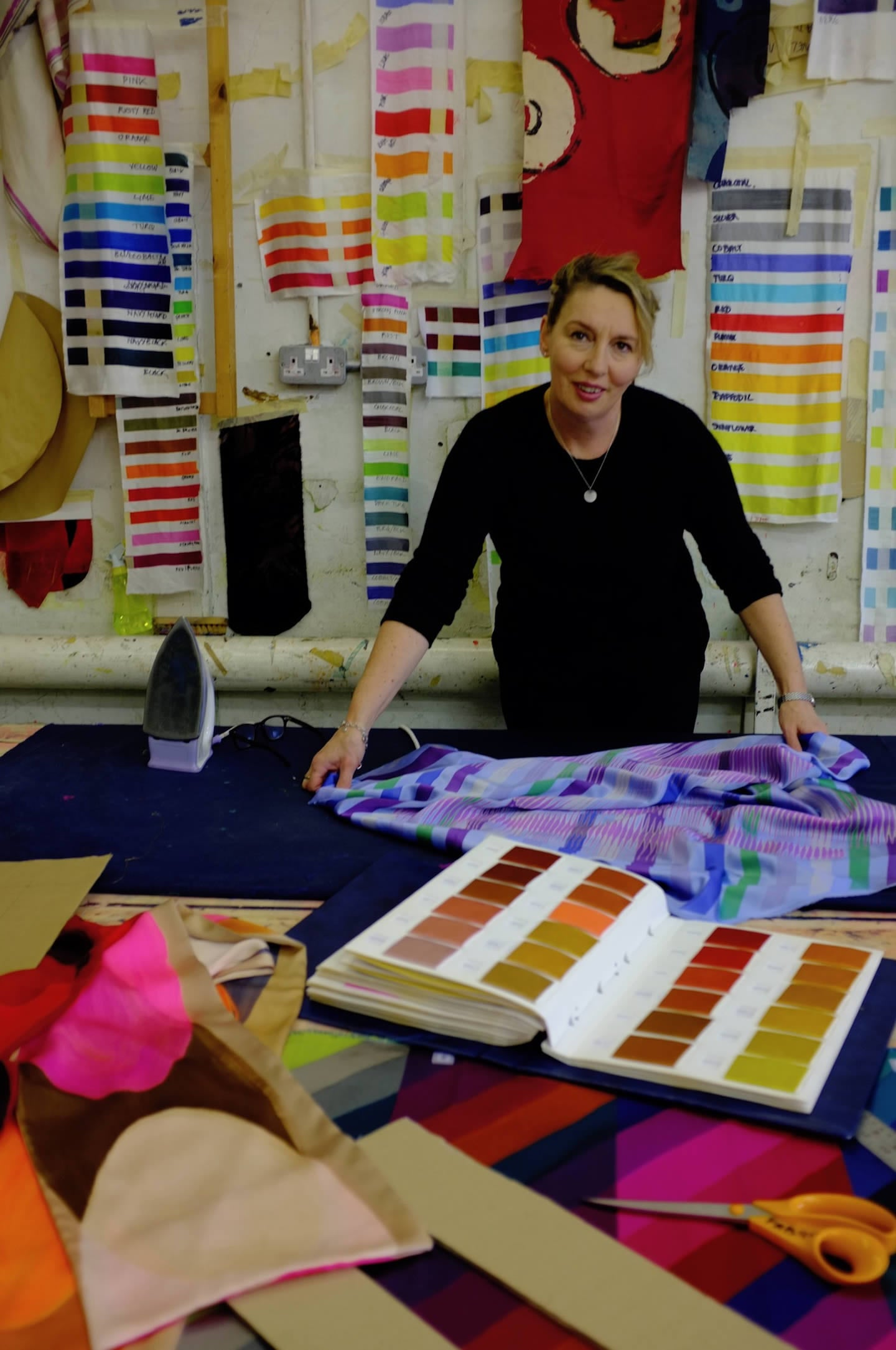Victoria Richards in her studio