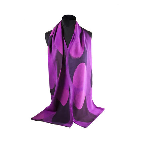 Oval Fuchsia Silk