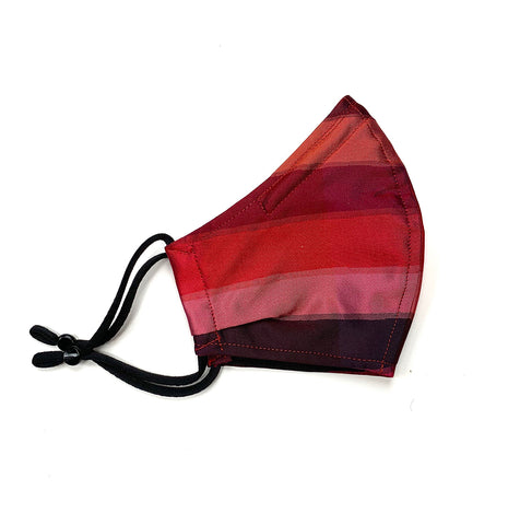 Ruby stripe silk mask medium