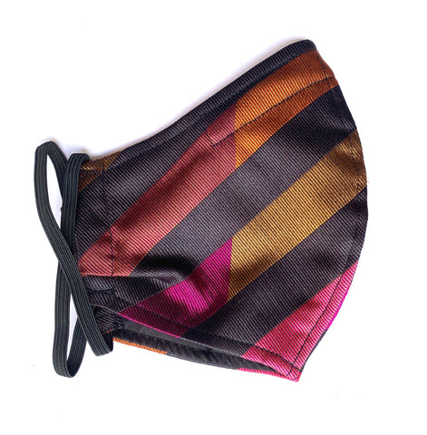 Solero stripe silk mask large