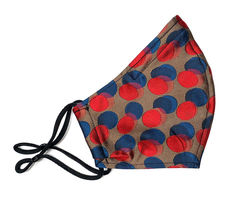 Poppy polka silk mask large