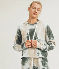 Load image into Gallery viewer, Mono B Tie-Dye Jacquard Cropped Pullover with Drawstring Sweatpants