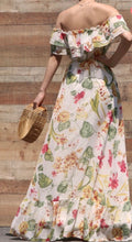 Load image into Gallery viewer, Esther Floral Printed Off-Shoulder Summer Dress