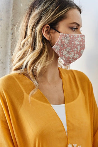Floral Reusable Protective Face Mask