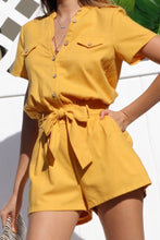Load image into Gallery viewer, Samantha Short Sleeve Casual Summer Romper
