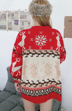 Load image into Gallery viewer, Oversized Knit Christmas Sweater