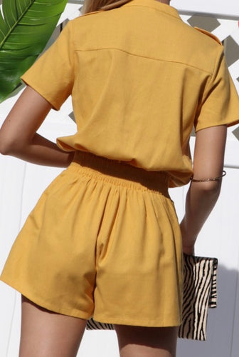 Samantha Short Sleeve Casual Summer Romper