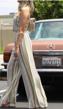 Load image into Gallery viewer, Esther Olive Striped Woven Jumpsuit
