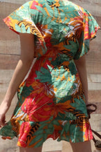 Load image into Gallery viewer, Rose Printed Mini Summer Casual Dress