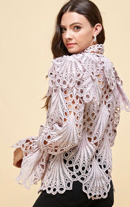 Emma's Crochet Lace Blouse
