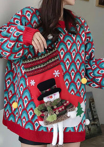 Oversized Knit Christmas Sweater