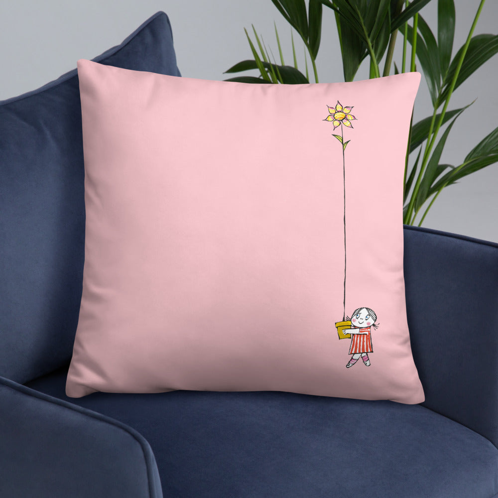 Pink pillow with both Little Anna and Little Ghost Laban