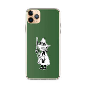 Snufkin iPhone case forest green