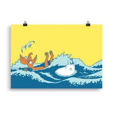 Load image into Gallery viewer, #OURSEA poster - Sniff and Moomin
